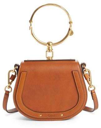 Chloe Small Nile Bracelet Leather Crossbody Bag - Brown $1,550 thestylecure.com