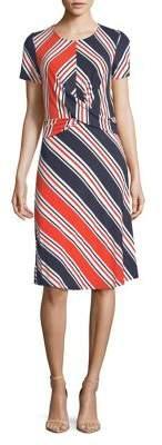Dorothy Perkins Chevron Striped Shift Dress