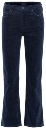 Mother The Outsider Cropped corduroy jeans