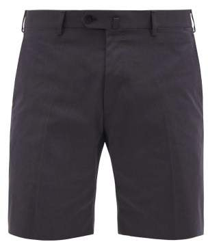 Odyssee - Combes Tailored Cotton Twill Shorts - Mens - Navy