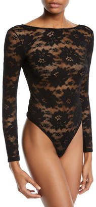 Livy Full Moon Long-Sleeve Cheeky Lace Bodysuit