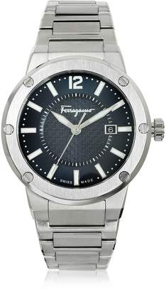 Salvatore Ferragamo F-80 Silver Tone Stainless Steel Men's Watch