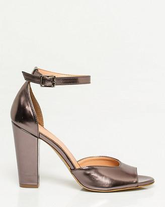 edf11330dceb Pewter Metallic Heel Sandals - ShopStyle Canada