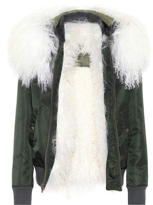 Mr & Mrs Italy Exclusive to mytheresa.com – fur-trimmed bomber jacket