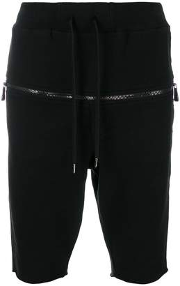 RH45 zip front track shorts