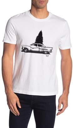 Original Penguin Tree & Car Graphic Crew Neck Tee