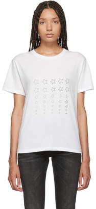 Saint Laurent White Stars Logo T-Shirt