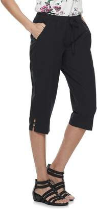 Croft & Barrow Petites Pull-On Drawstring Capri Pants