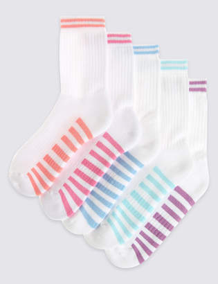 Marks and Spencer 5 Pairs of Cotton Rich Sports Socks