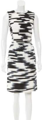 Oscar de la Renta Tiered Printed Dress