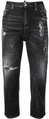 DSQUARED2 high rise ripped crop jeans