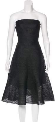 Issey Miyake Strapless Linen Skirt Set