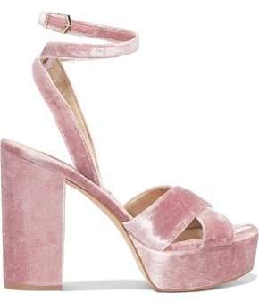 Sam Edelman Mara Velvet Platform Sandals