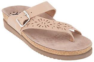 Mephisto Perforated Nubuck Toe Loop Sandals- Helen Perf