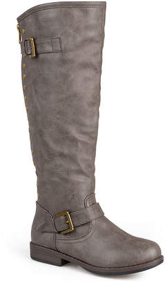 Journee Collection Spokane Studded Wide Calf Riding Boots