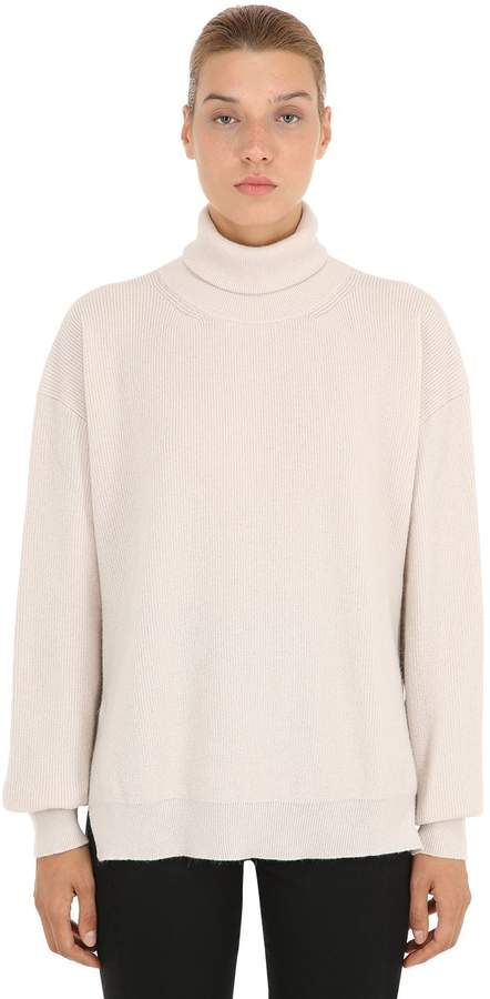 Nanushka Boxy Wool Blend Turtleneck