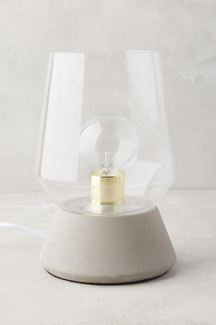 Anthropologie Anthropologie Faceted Glass Table Lamp