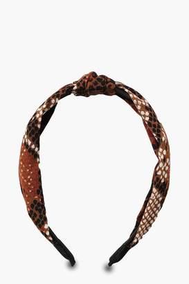 boohoo Snake Twist Knot Headband