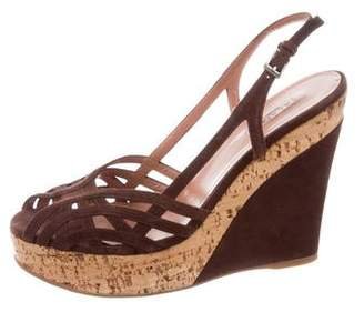 Alaia Platform Wedge Sandals