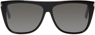 Saint Laurent Black SL 1 Bold Sunglasses $345 thestylecure.com