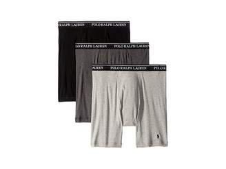 Polo Ralph Lauren Classic Fit w/ Wicking 3-Pack Long Leg Boxer Briefs