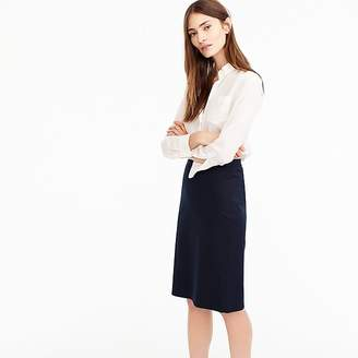 J.Crew Pencil skirt in Italian two-way stretch wool