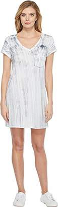 Michael Stars Women's Nautical Wash Short Sleeve Dress with Pocket
