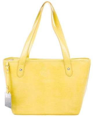 Lauren Ralph Lauren Embossed Leather Tote