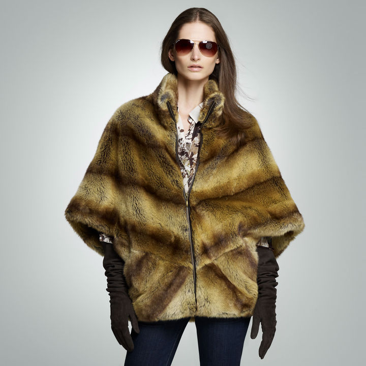 Jones New York Faux Fur Cape