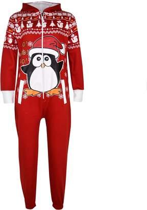 a2z4kids New Kids Girls Boys Novelty Christmas Santa Reindeer Onesie All in One Jumpsuit