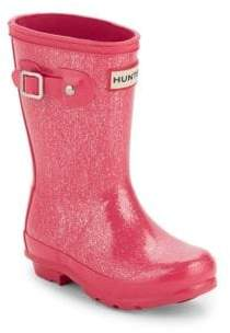 Hunter Kid's Glittered Rubber Rain Boots