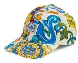 Dolce & Gabbana Maiolica Printed Baseball Cap