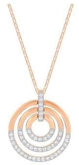 Swarovski Circle Multi-Tone Tiered Pendant Necklace