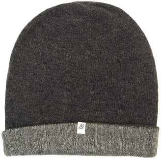 40 Colori Charcoal & Grey Large Reversible Wool & Cashmere Beanie