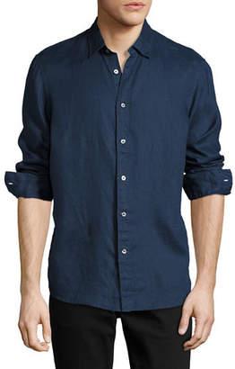 Michael Kors Linen Button-Down Shirt