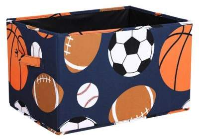 Lush Décor Sports Medium Collapsible Storage Box (Set of 3)