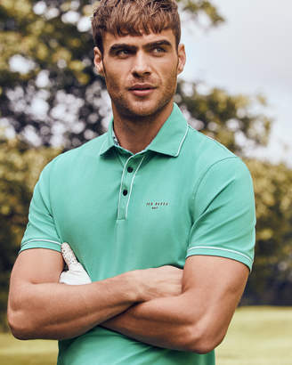 Ted Baker OFFSET Stripe detail polo shirt