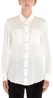 Balmain Logo Embossed Button Tailored Blouse