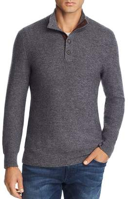Bloomingdale's The Men's Store at Suede-Trimmed Pullover Sweater - 100% Exclusive