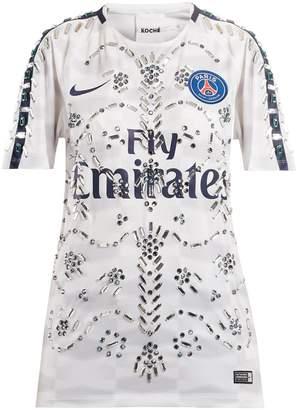 KOCHÉ X Paris Saint-Germain crystal-embellished top