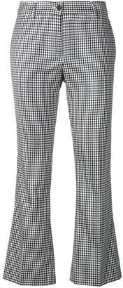 Alberto Biani checked cropped trousers