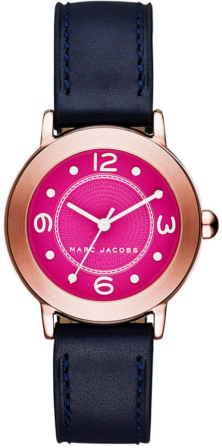 Marc By Marc JacobsMarc by Marc Jacobs Women's Riley Navy Leather Strap Watch 36mm MJ1558