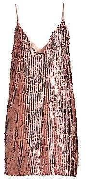 Le Superbe Women's Full Moon Plunging Sequin Dress