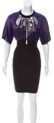 Barbara Bui Embellished Short Sleeve Dress