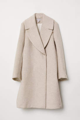 H&M Double-breasted Coat - Beige