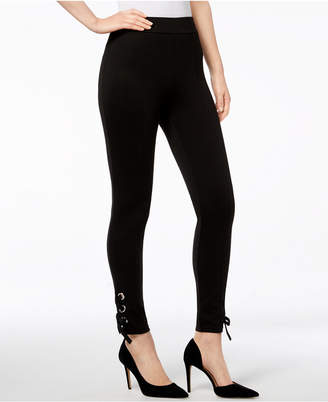 INC International Concepts I.N.C. Lace-Up Ankle Leggings, Created for Macy's