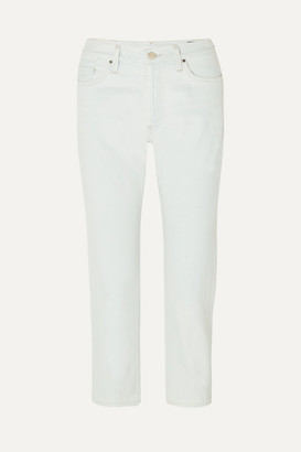 Gold Sign The Low Slung Cropped Low-rise Straight-leg Jeans - Light denim