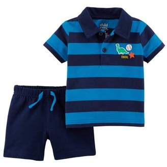Carter's Child of Mine by Baby Boy Polo Shirt & Shorts, 2pc Outfit Set