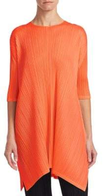 Pleats Please Issey Miyake Side Slit Tunic