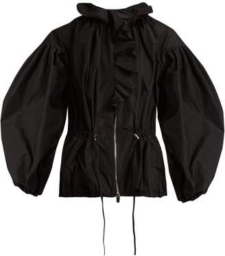 Giambattista Valli Ruffle-trimmed drawstring-waist taffeta jacket